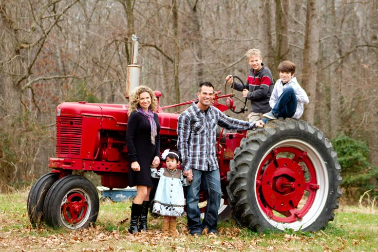 Families - Nothing says country like a big red tractor!