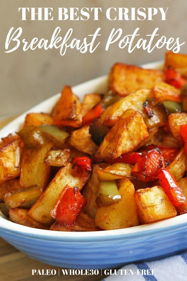 Crispy Breakfast Potatoes that are Whole30, Paleo & Gluten-Free #breakfastpotatoes #healthybreakfast #breakfastpotatoesrecipes
