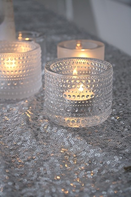 Candlelights in the glass serie The Dew Drop (Kastehelmi) made by iittala