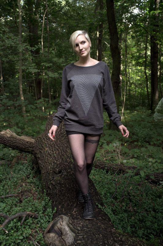 Women Organic Ranglan Sweatshirt Grey   Climate by SayItBerlin, €49.90