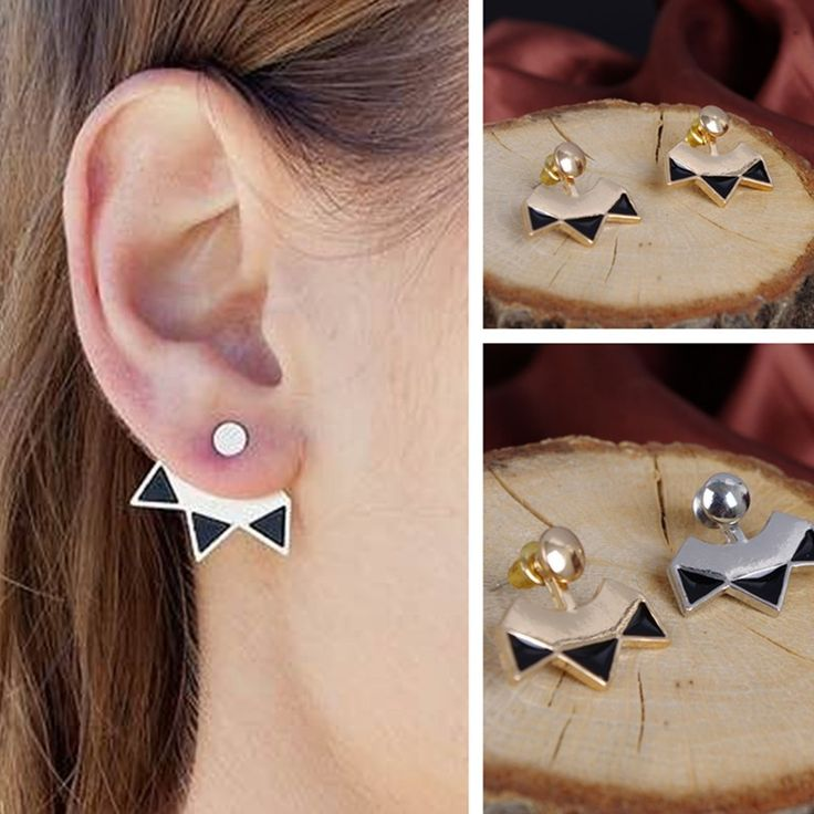 triangle double earrings for women geometric stud earrings fashion jewelry pendiente brincos boucle d'oreille oorbellen bijoux