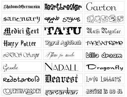 tipos de letras word