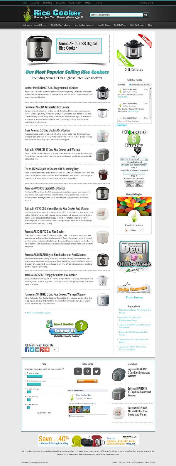 Rice Cooker Website For Sale