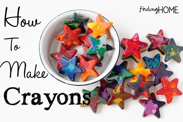How to Make Crayons - Kid Friendly Crafts from Finding Home (findinghomeonline.com)