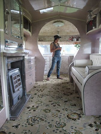 Nice interior of converted bus