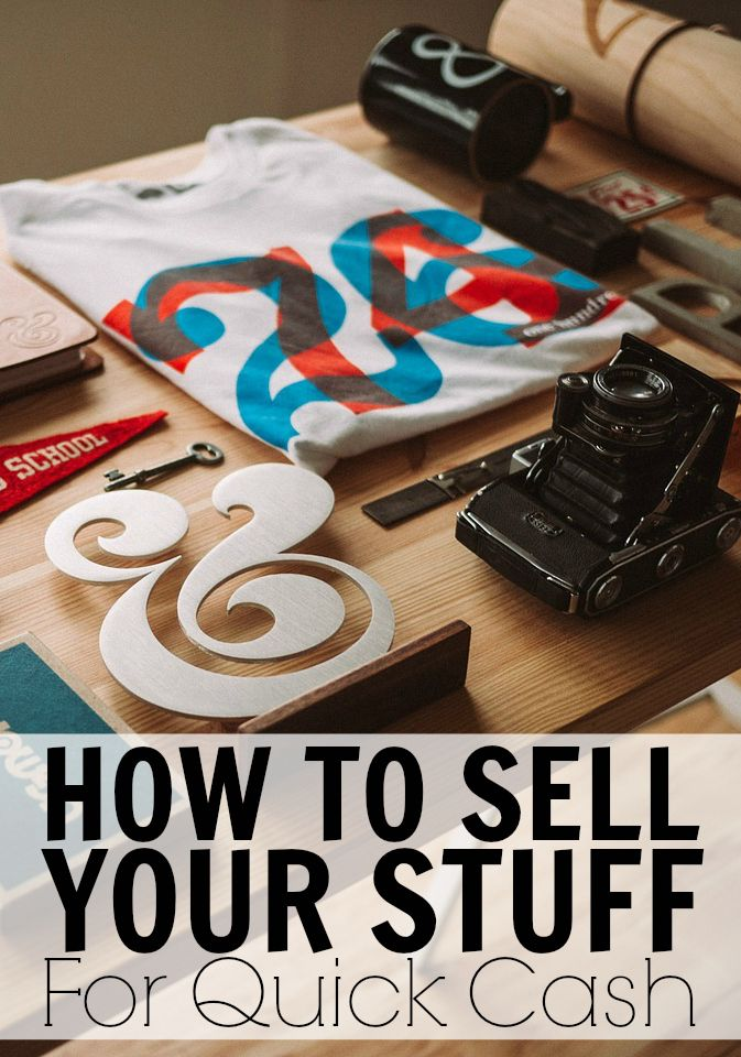 How To Sell Your Stuff And Make Quick Money. When was the last time you sold something to make extra money? Do you plan on selling anything soon or doing a major clean out of your home?