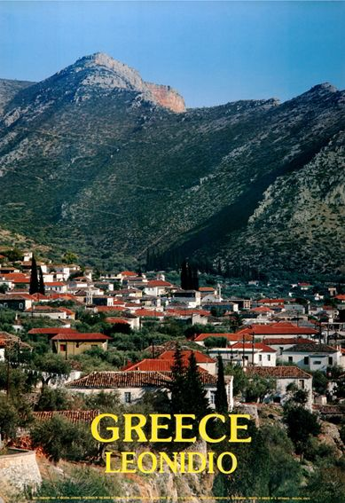 TRAVEL'IN GREECE I G.N.T.O. vintage poster - #Leonidio, #Greece