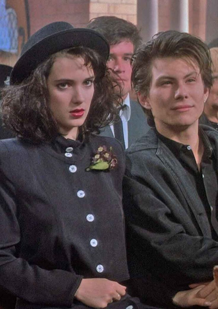 Winona Ryder as 'Veronica' & Christian Slater as 'J.D.' in Heathers (1988)