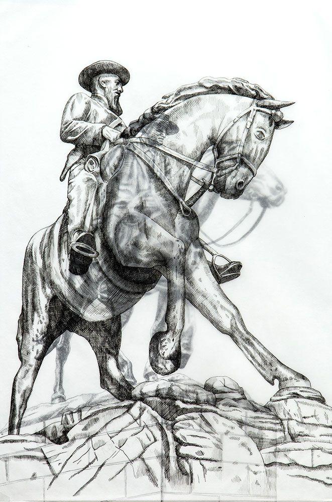 Adele van Heerden | Memorial to De La Rey | Original Art For Sale | StateoftheART
