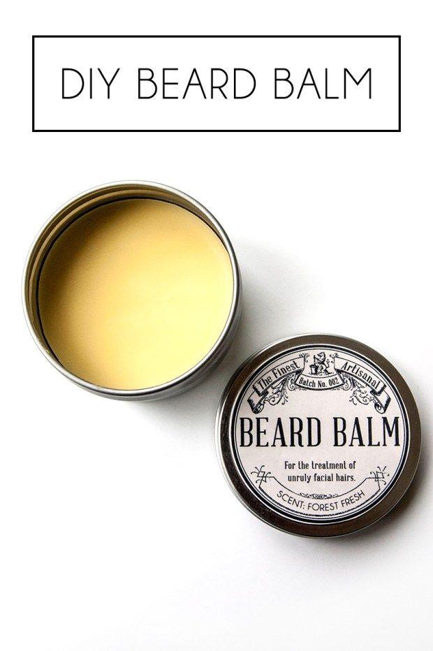 DIY homemade beard balm