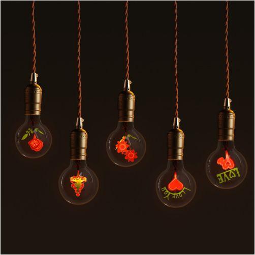 CHICLITS Technology. Декоративная лампа, лампада, лампочка накаливания с цоколем E27. Винтажные лампы Эдисона 220 В, 3 Вт.