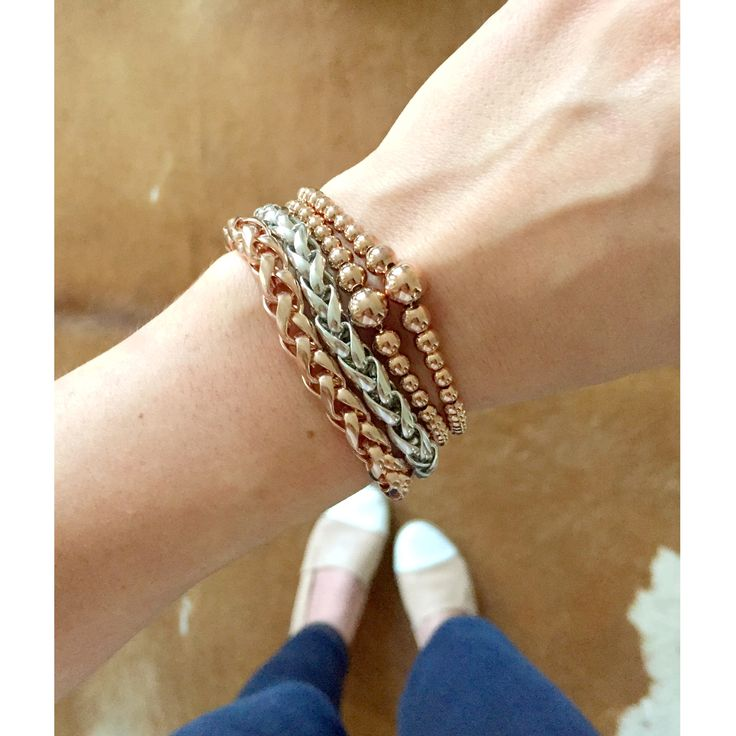 Mixing metals | Liel and Lentz #Jewelry #bracelet #RoseGold #Silver #Minimal #Fashion #Modern