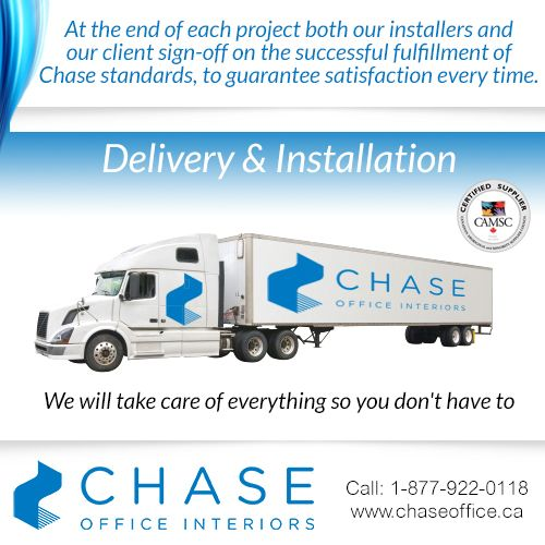 The high-performing Chase team has the experience and knowledge required to ensure accurate delivery of all parts and components with a superior installation that meets your expectations. For more information call: 1 877 922 0118