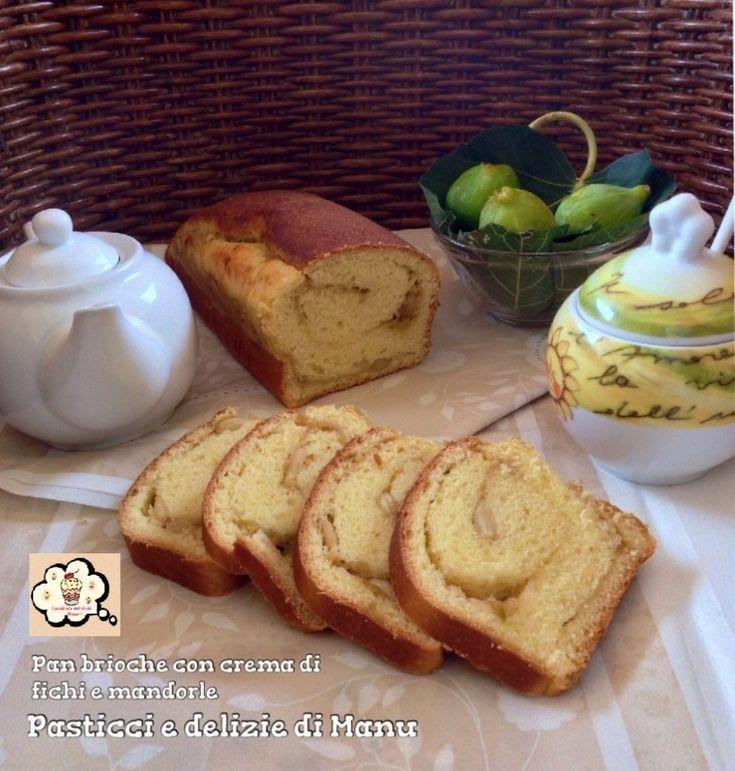 """Dal mio blog """"Pasticci e delizie di Manu """" la ricetta del Pan brioche con crema di fichi e mandorle e con l'aggiunta di un tocco speziato di cannella, un dolce soffice che nasconde al suo interno una sorprendente sfumatura di gusto e sapore. http://blog.giallozafferano.it/pasticciedeliziedimanu/pan-brioche-con-crema-di-fichi-e-mandorle/"""
