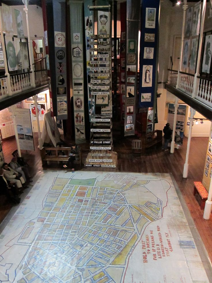 As time passes and memories fade we all would do well to make the effort to remember. Here at the District Six Museum in Cape Town you can learn about the experiences of one vital neighborhood dismantled under apartheid.