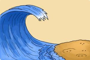 How to Draw a Wave For Kids.Grab this opportunity of a free drawing lesson on how to draw a wave for kids. Water wave is being caused by the dispersion of water. This happens when wavelengths of water at different speed and phase hit the water surface and gravity interact with them causing tension on the water level causing the water move upward at a fast speed. The height and speed of waves differs with the amount of the elements causing water waves.Create the shore surface of the sea. Make…