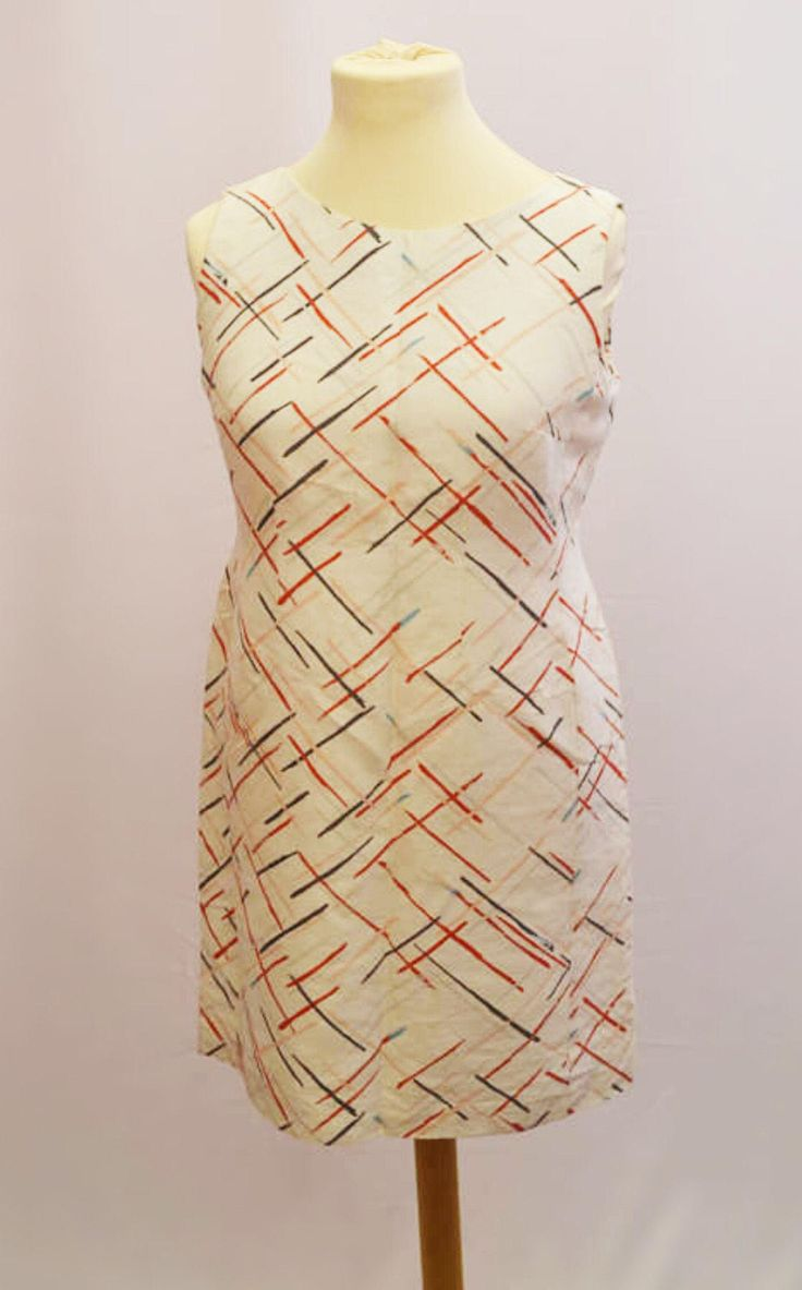 1960s Louis Feraud designer shift dress UK vintage size 16. Retro Midi dress by VintageVanityGB on Etsy