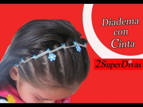 VIDEO Paso a paso - Diadema de ligas decorada con cinta. Peinado facil para ninas. VIDEO tutorial - Headband made with elastics and ribbon, wonderful for littlegirls made by www.2superdivas.com