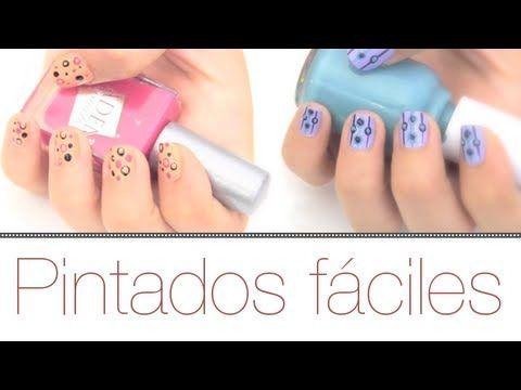 ▶ PINTADO DE UÑAS FÁCILES DE COLORES - YouTube