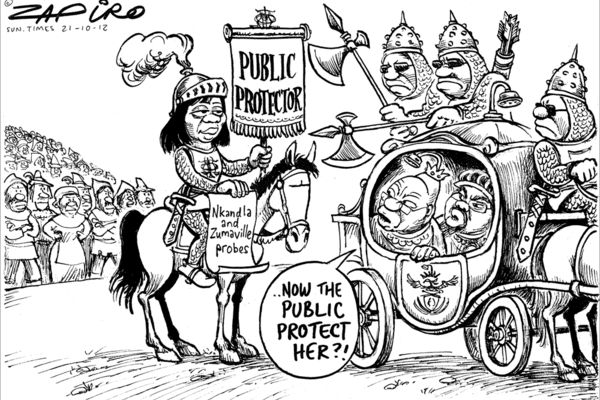 Zapiro: Thuli Madonsela the lone voice of sanity in the South African political sphere.
