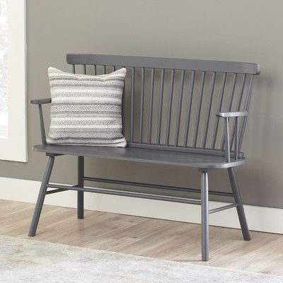 Modern farmhouse entryway bench. Farmhouse furniture for less on the blog!