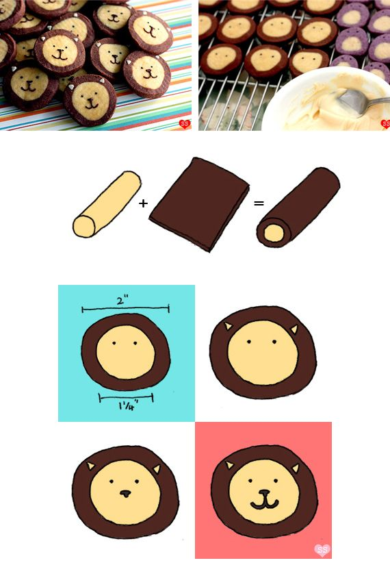 Lion cookies!! Oh desserts is such a creative website, it makes my babysitting job so much easier since I can bribe the kids with cute stuff like this. #immoral