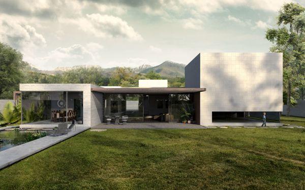 Yucatan House - Interior Design | Living - RNDR Studio www.rndrstudio.it