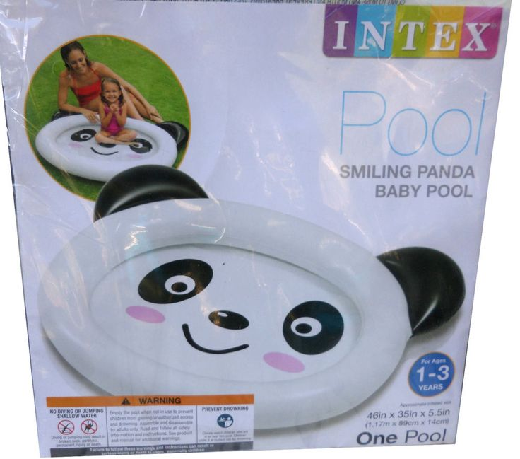 "Intex Smiling Panda Inflatable Baby Pool 46"" For 1-3 years New in package #Intex"