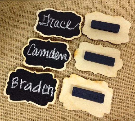NEW Chalkboard Name Tags set of 6 Magnetic Name by BradensGrace