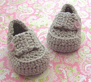 Classic baby girl loafers, a modern crochet style bootie.