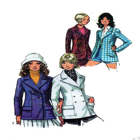 Simplicity 9610 Women Blazer Double Breasted Collar Slim