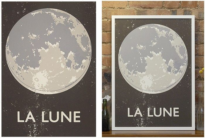 La Lune | Double Merrick | Artists | Keep Calm Gallery: Artists, Color, Simple Art, Art Prints Inspiration, Moon Art, Poster, Calm Galleries, The Moon, Kids Rooms