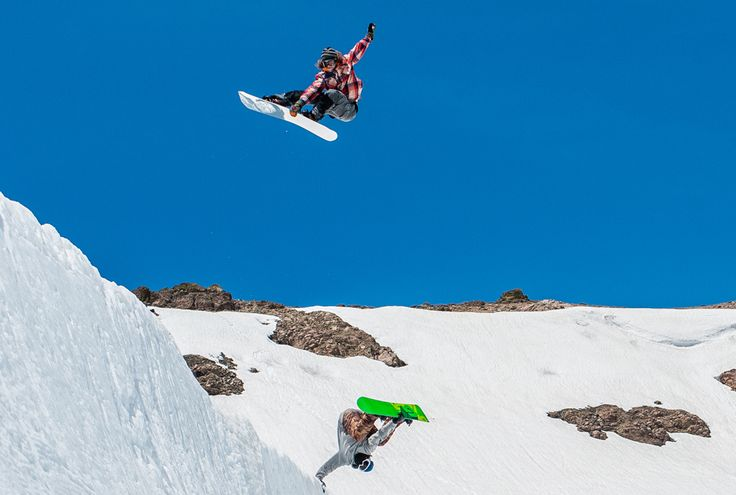 Danny Davis and Mark McMorris. Burton Peacepark. p: T. Bird | Snowboarder Magazine