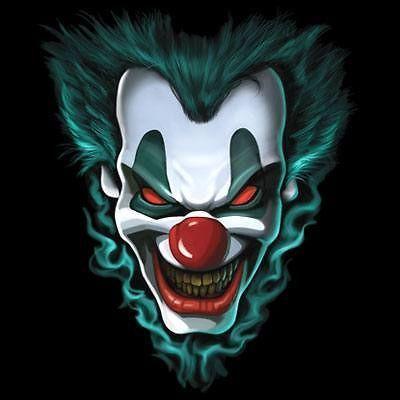 Cool Tshirt Freak Show Liquid Blue Evil Clown Dark Side Scary