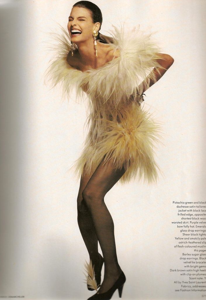 Linda Evangelista- Vogue UK October 1987
