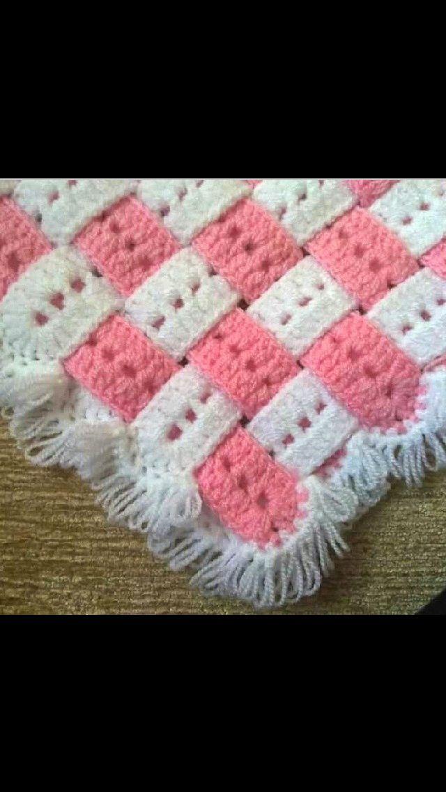 Ideia para manta de crochê
