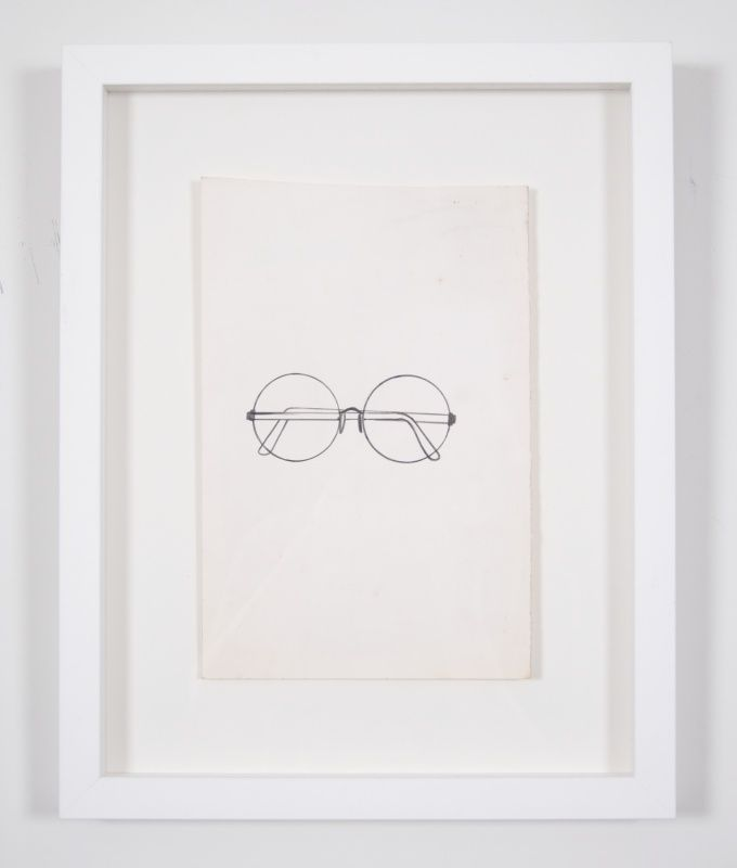 Jim Dine spectacles drawing from 54 items from 60 Chester Square