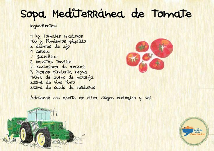 Sopa mediterránea de tomate