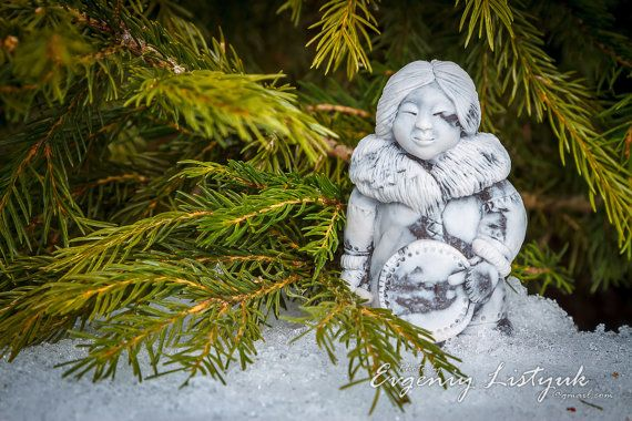 MARBLE Russian Handmade Souvenir Gift Native Siberian Old woman with a tambourine on Etsy, 24,99$
