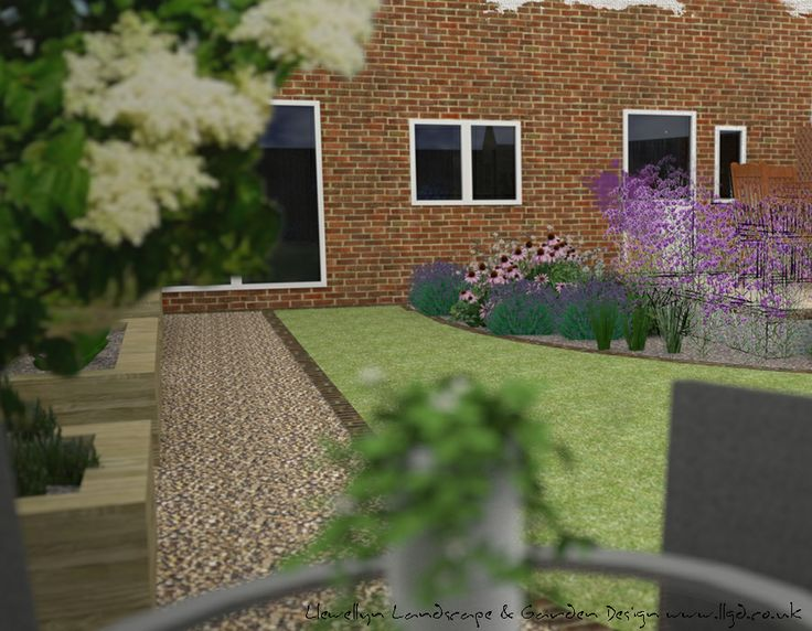 A Computer And Hand Render Giving The Client An Impression Of How Their  Garden Will Look