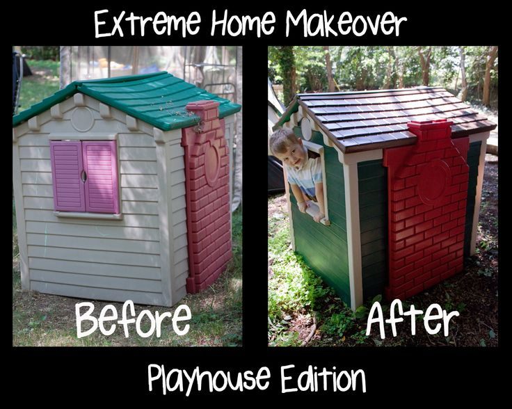 15 Best Playhouse Redo Images On Pinterest Little Tikes