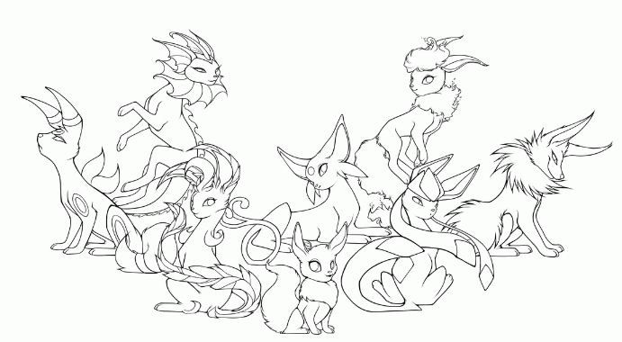 Pokemon Eevee Evolutions Coloring Pages Pokemon Coloring Pages Pokemon Coloring Coloring Pages