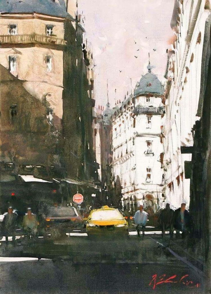 Joseph Zbukvic | ランドスケープアート. 水彩風景畫