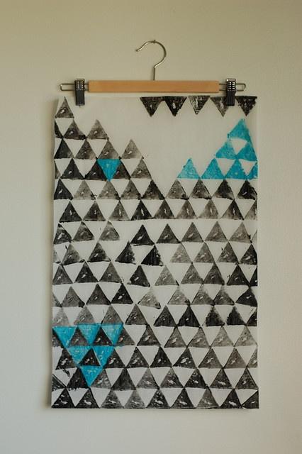 Triangle potato print pattern