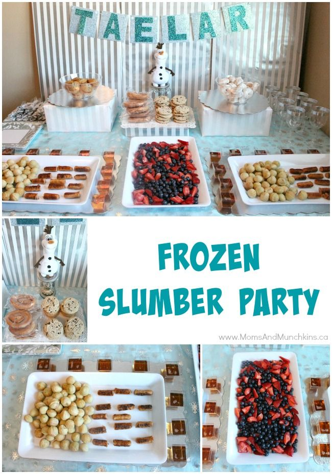 Frozen Slumber Party Ideas - slumber party games, party food, birthday decorating ideas and more!