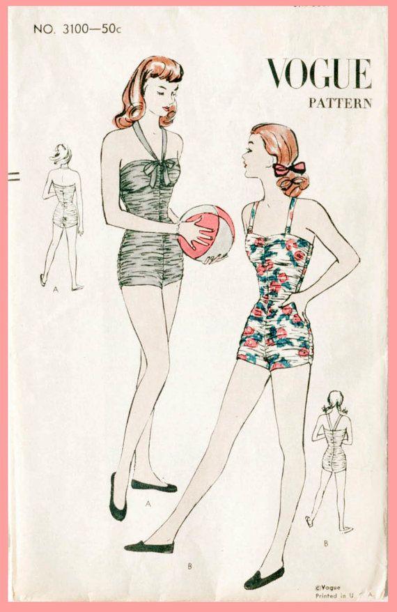 década de 1940 40s patrón de costura vintage por LadyMarloweStudios