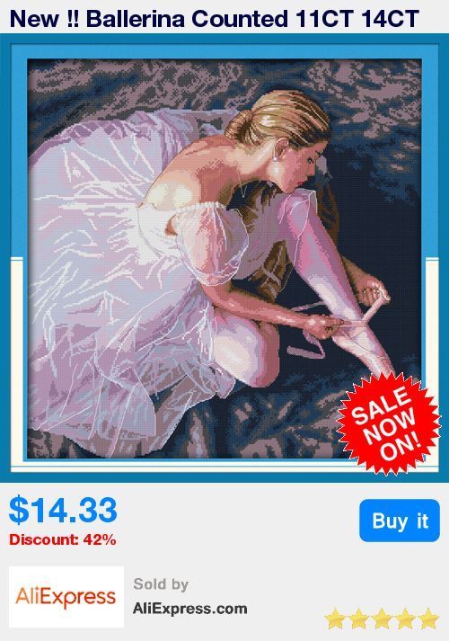 New !! Ballerina Counted 11CT 14CT Unfinished DMC Cross Stitch DIY Cross Stitch Kits for Embroidery Needlework WR008 * Pub Date: 02:32 Jul 8 2017