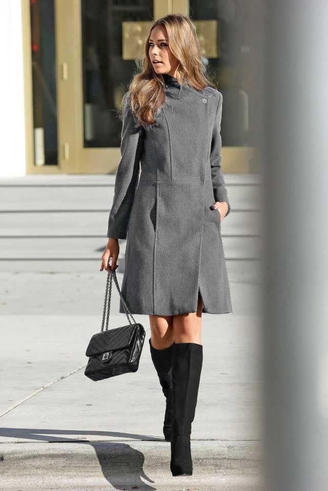 DÁMSKÝ VLNĚNÝ KABÁT BUFFALO, kabát šedý, dámský dlouhý kabát, značkový dámský kabát, dámský kabát se slevou.