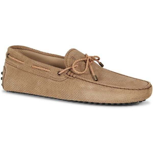 Mens Soft Suede Perforated Driving Shoes