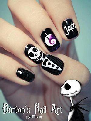 Halloween nail art: Nailart, Christmas Nails, Nail Designs, Naildesign, Jack O'Connell, Nightmare Before Christmas, Nail Art, Halloween Nails, Jack Skellington